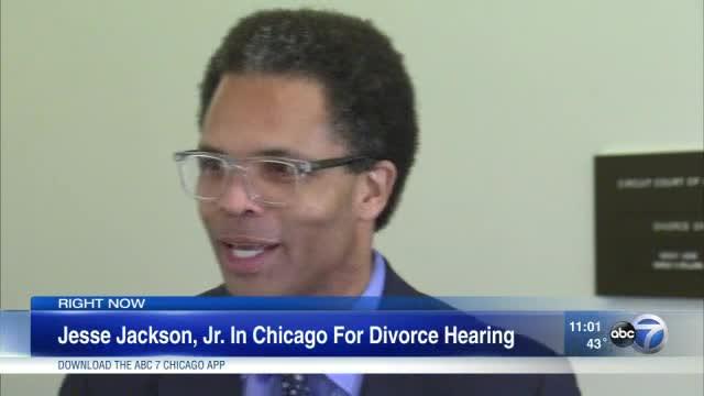 Jesse Jackson Jr. talks in Chicago after divorce hearing