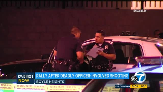 Rally forms in protest of fatal Boyle Heights officer-involved shooting
