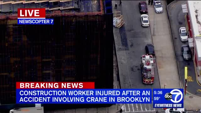 Construction worker injured in Bedford-Stuyvesant