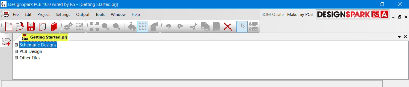 New tab in DSPCB for the created project
