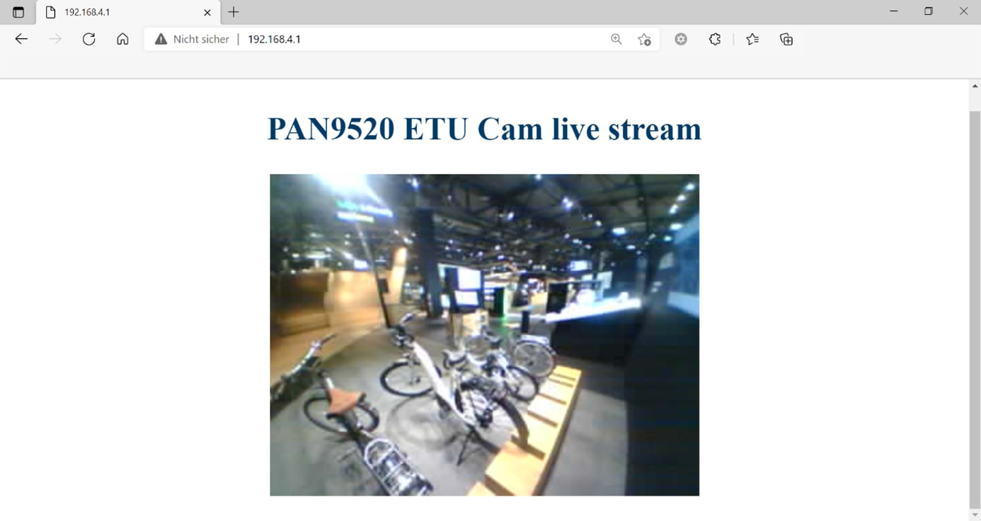 Live streaming from the PAN9520