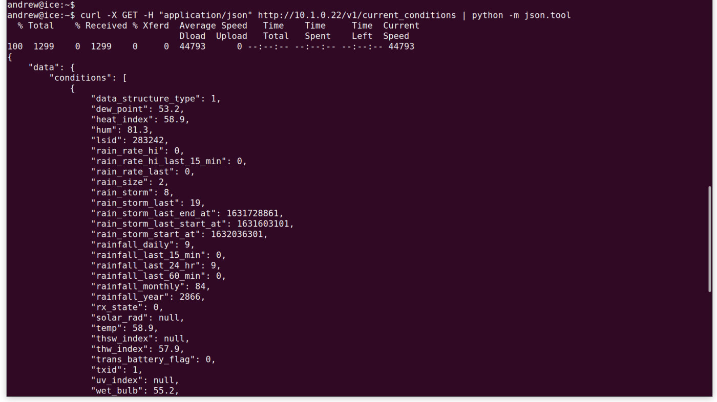 pipe the data returned through Python's json.tool module