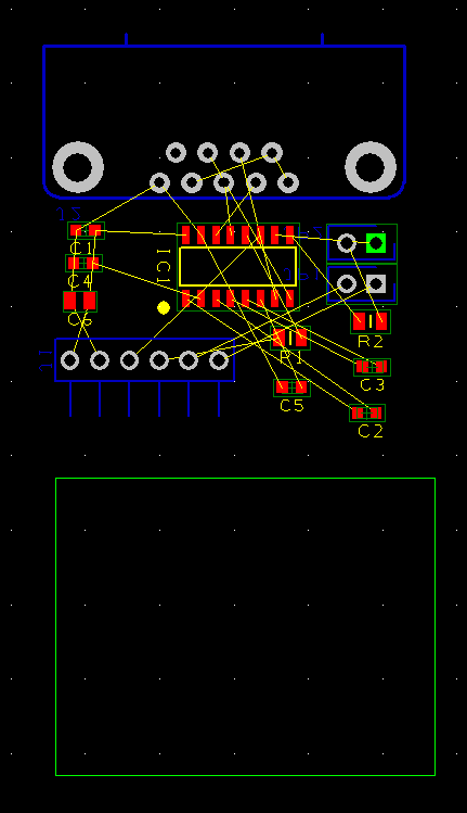 Select component and position then route copper