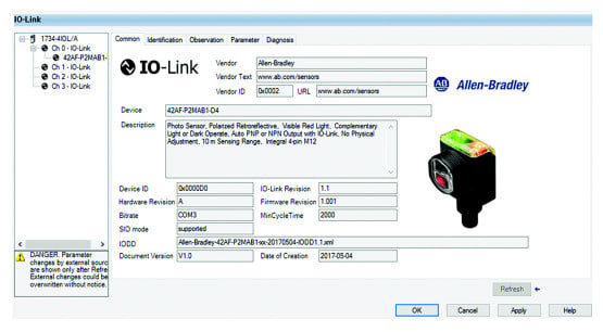 Configure Rockwell sensors