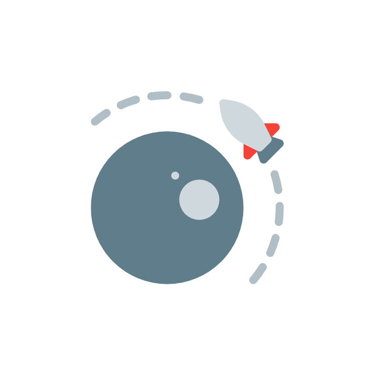 Rocket achieving orbit