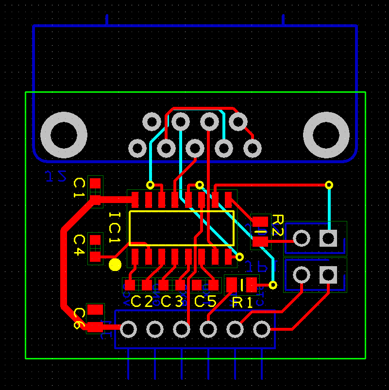 example board with finished routing