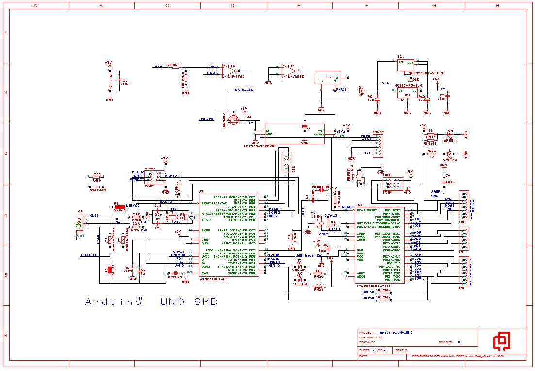 Arduino Uno Smd Reference Design In Designspark Pcb Format