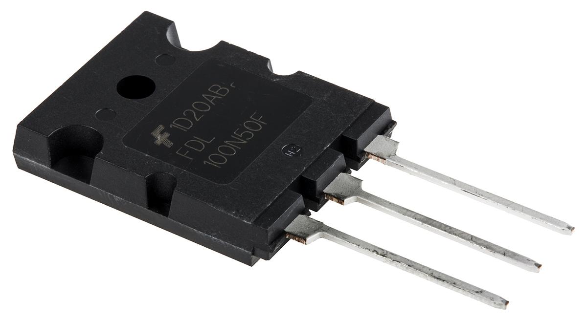 Vorder- und Rückseite eines MOSFETs