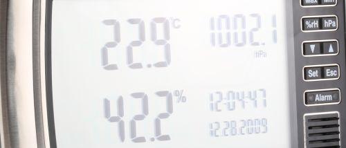 Bild eines Hygrometers mit Digitalem Display