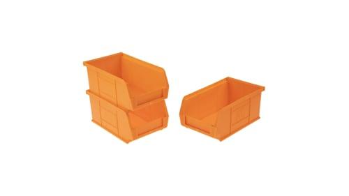 Rs Pro Pp Storage Bin 76mm X 101mm, Orange Plastic Storage Totes