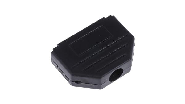 Body, MHDPPK Series DE Nylon D Sub Backshell Pack of 20 180/° Polyamide MHDPPK9-B-K
