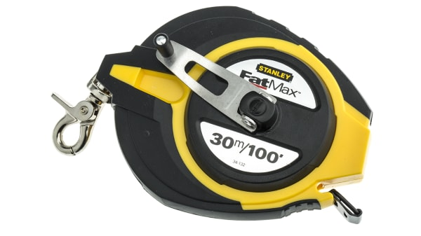 Surveyors//Builders 30m//100 Foot Long Tape Measure Steel Case Metric//Imperial