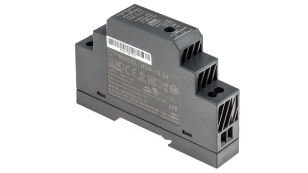 Din-Rail power supply MeanWell HDR-series ; panel mount switching power supplies