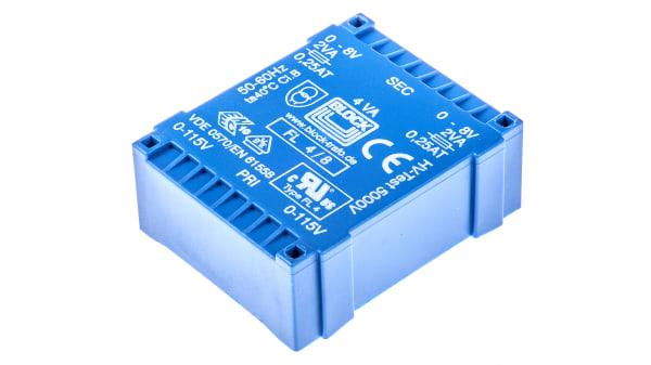 Fl 4 8 8v Ac 2 Output Through Hole Pcb Transformer 4va Rs Components
