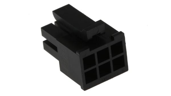 6 Molex 4x 43025-0600 tubería de enchufe-placa hembra micro-fit 3.0 3mm pin