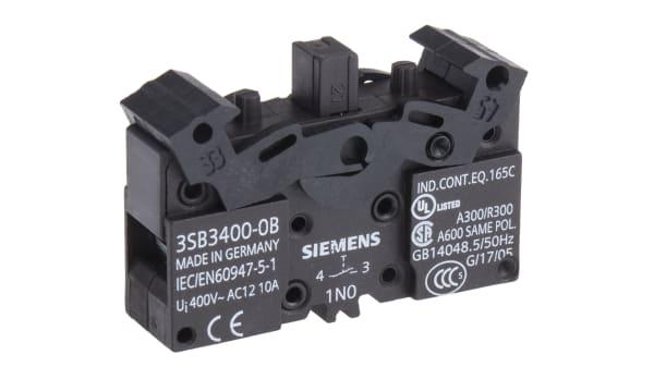 Siemens Siemens 3SB3 1NO Tornillo Terminal de bloque de contacto
