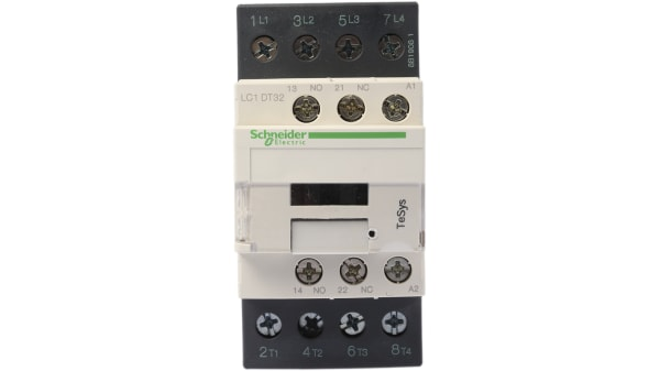 Lc1dt32p7 Schneider Electric Tesys D Lc1d 4 Pole Contactor 32 A 230 V Ac Coil 4no Rs Components