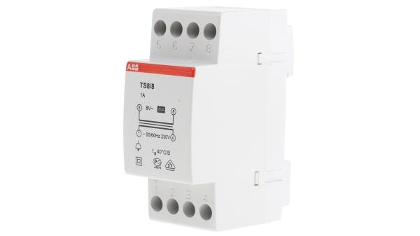 2csm081301r0811 Ts 8 8 Abb 8va Bell Transformer 230v Ac Primary 8v Ac Secondary Rs Components