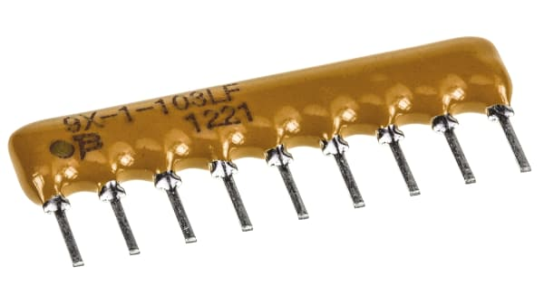 5 pieces BOURNS 4609X-101-153LF RESISTOR 2/% BUS RES N//W 15KOHM SIP 8