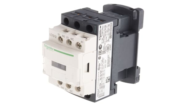 12 A SCHNEIDER Tesys D LC1D 3 Pole Contactor 220 V ac Coil 5.5 kW