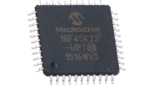PIC18F45K22-I/PT | Microchip PIC18F45K22-I/PT, 8bit PIC Microcontroller,  PIC18F, 16MHz, 32.768 kB, 256 B Flash, 44-Pin TQFP | RS Components