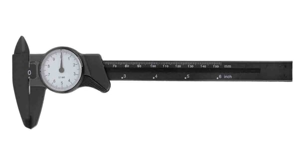 Rs Pro 150mm Dial Caliper 0 1 Mm Metric Imperial Rs Components