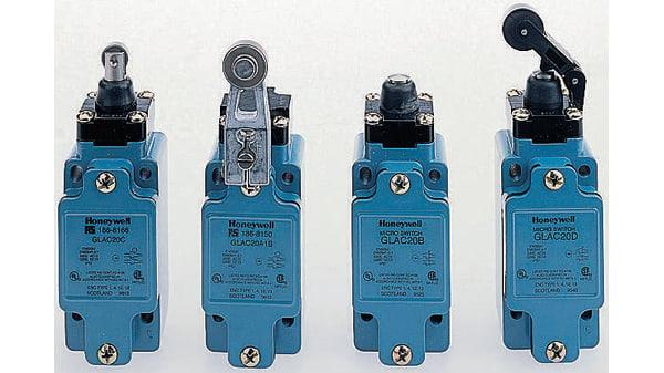 GLAB20C   Interruttore di fine corsa Honeywell serie GLA, Rotella, , 2NA,  2NC, 600V, 6 A, IP67   RS Components