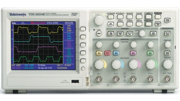 Tds2022b Tektronix Tds2022b Digital Storage Digital Oscilloscope 200mhz 2 Channels Rs Components