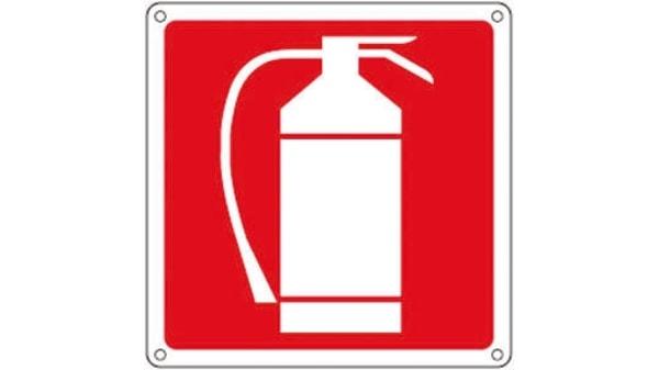 Segnale di sicurezza antincendio punto 100x200mm Autoadesivo FR07903S SR11164