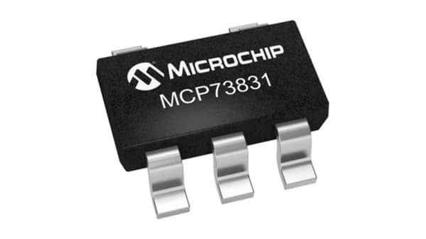 charge de batterie contrôleur Lithium-Polymère Microchip MCP73833-FCI//UN Lithium-Ion