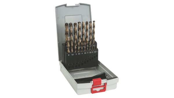 19pcs HSS Drill Bit Set for Metal Wood 1.0~10mm Titanium Coated with Storage Box Tools Accessories Multifunction