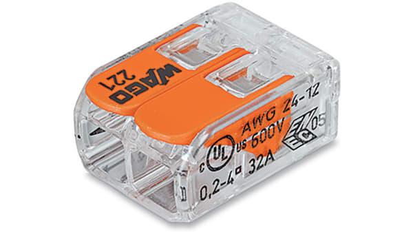WAGO 243-724 PUSH FILO CONDUTTORE ® 4 6A MODULAR PCB Connettore di giunzione verde chiaro