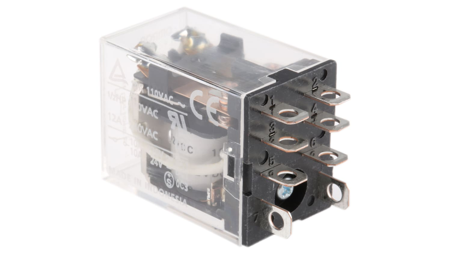 Omron, 40V dc Coil Non Latching Relay DPDT, 40A Switching Current Plug In,  40 Pole