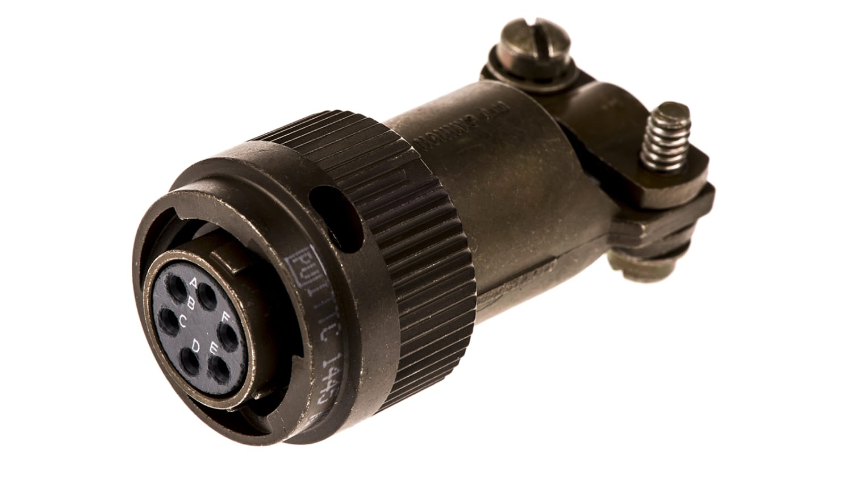 Rundsteckverbinder ITT Cannon KPT06F10-6S Steckverbinder Kupplung 6pol 7,5A IP67