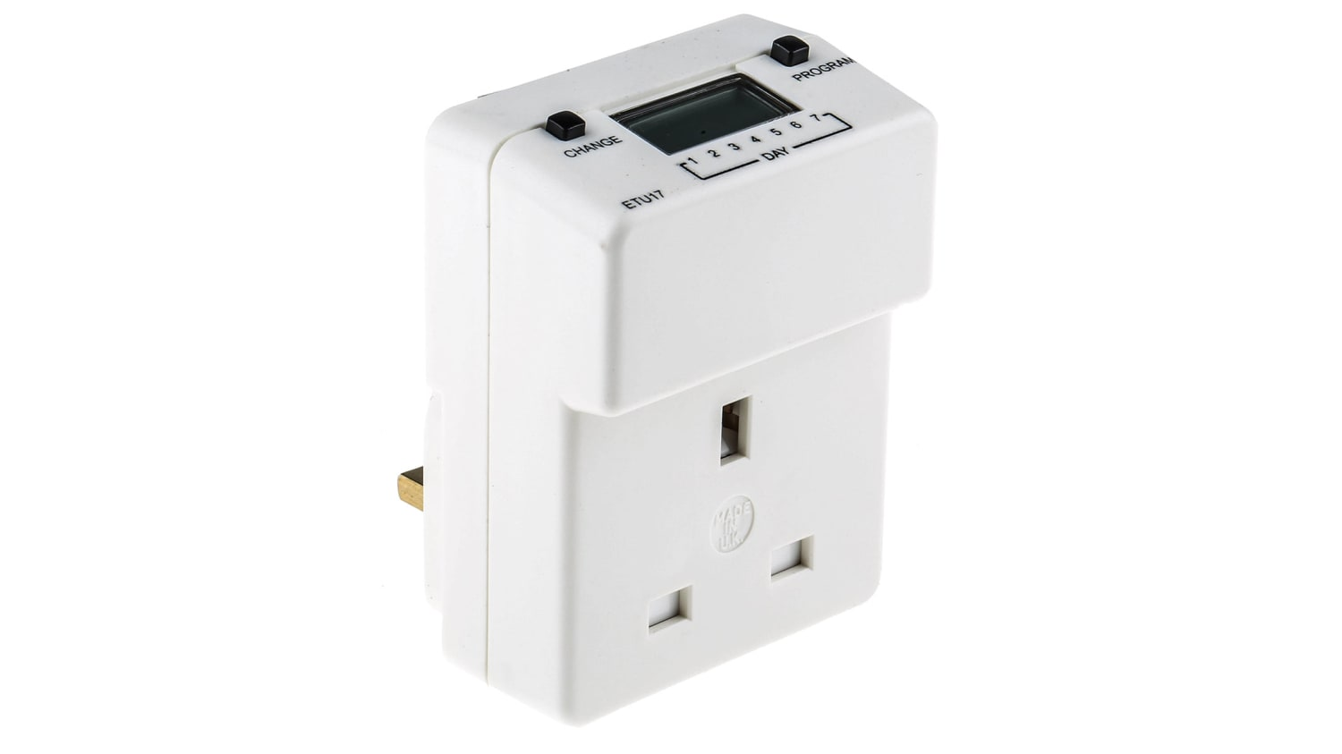 Etu17 Theben Timeguard Digital Electric Timer Switch 3 Pin Bs 1363 1000h Rs Components