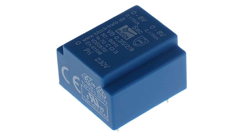 Vb 0 35 2 8 8v Ac 2 Output Through Hole Pcb Transformer 0 35va Rs Components