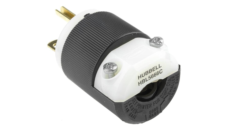 HBL5666C NIB 3W Hubbell Plug 2P 15A//250V 5666C