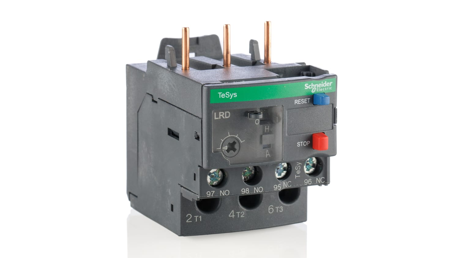 LRD21   Schneider Electric Thermal Overload Relay - 1NO + 1NC, 12 → 18 A  F.L.C, 18 A Contact Rating, 3P   RS Components