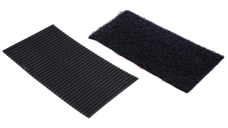NEW VELCRO® BLACK HEAVY DUTY STICK ON STRIPS 50mm x 100mm HOOK /& LOOP