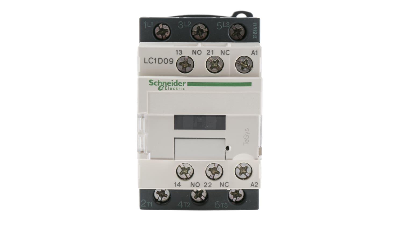 220VAC Coil TeSys D Motor Control 3-Pole 440VAC Schneider Electric LC1D09M7 9A Contactor DIN Rail