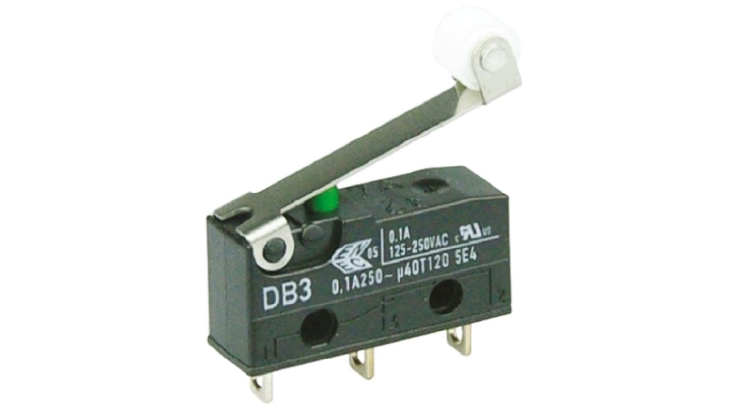 SPDT-NO//NC Roller Lever Microswitch 100 mA @ 250 V ac