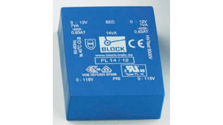 Fl 14 8 8v Ac 2 Output Through Hole Pcb Transformer 14va Rs Components