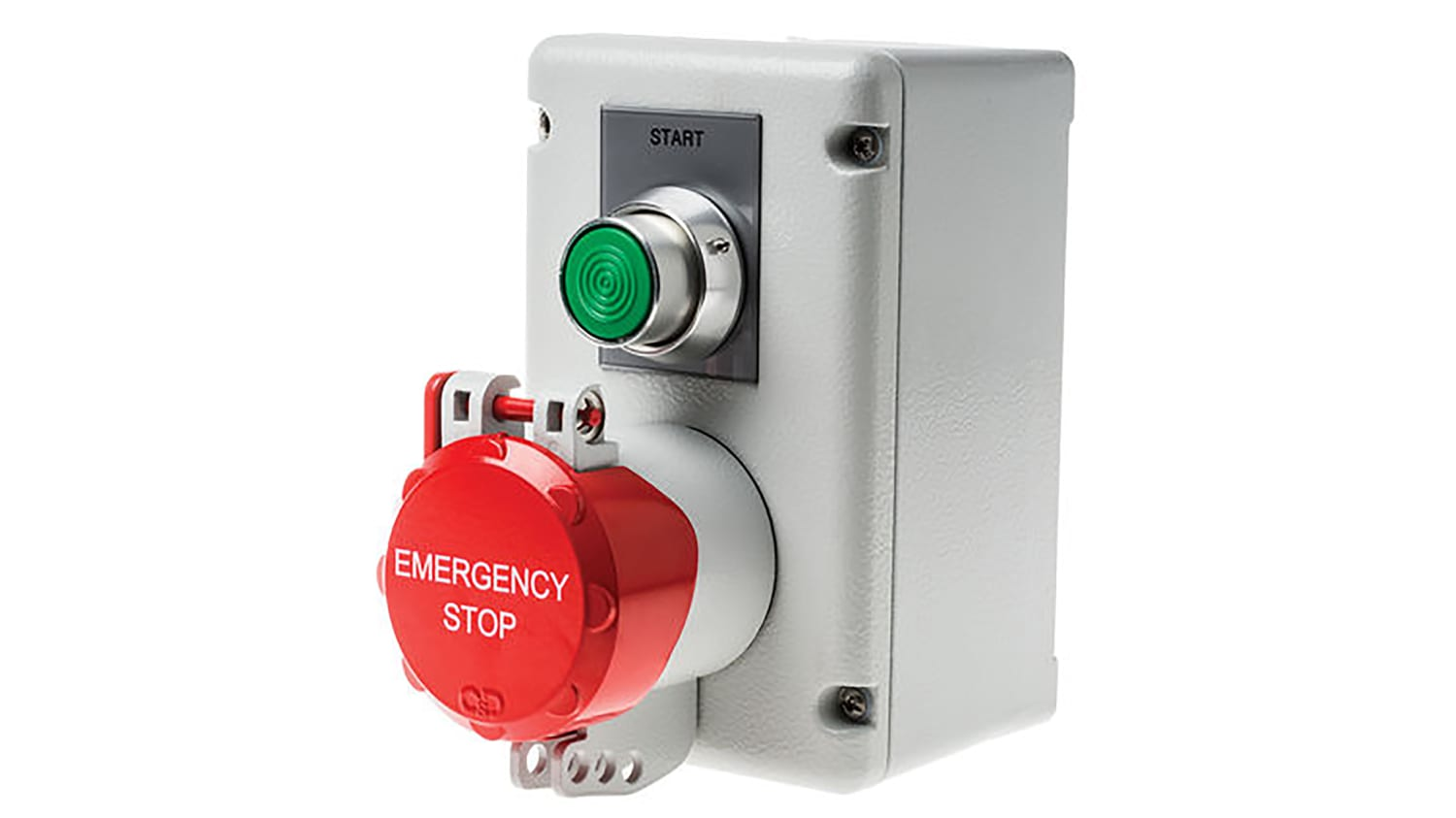 SSTH/GS/P/F1/MG/CO   Craig & Derricott Momentary (Start), Pull to Reset  (Stop) Push Button Control Station - NO/NC, Die Cast Aluminium,   RS  Components