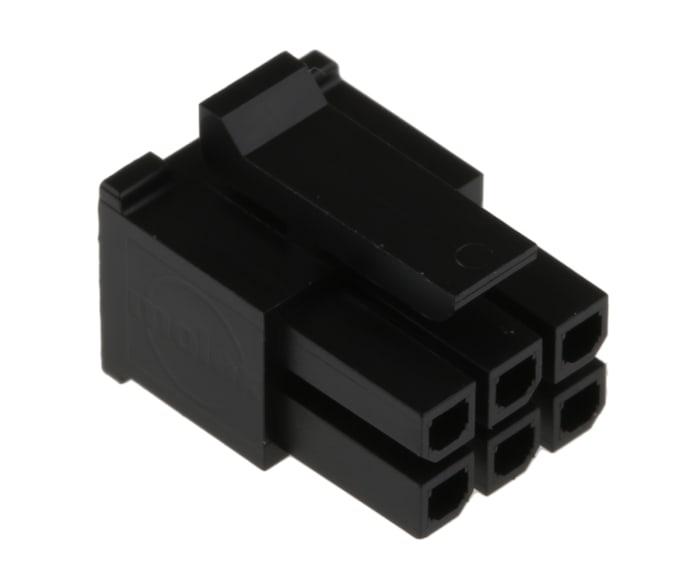 Wire-Board Connector 6 Position 3mm Molex 43025-0600 Receptacle