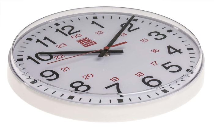 Rs 6201 Rs Pro 30cm 24 Hour Quartz Wall Clock 706 4786 Rs Components