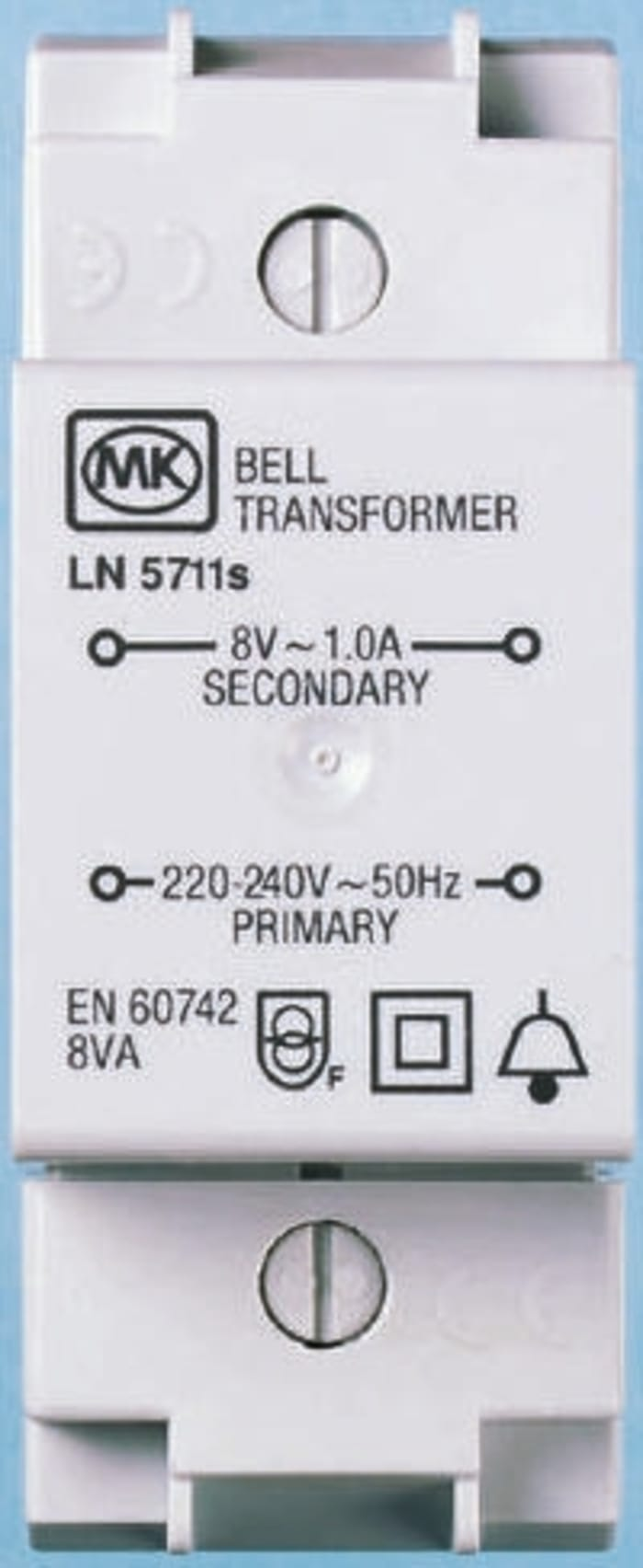 5711s Mk Mk 8va Din Rail Panel Mount Transformer 230v Ac Primary 1 X 8v Ac Secondary 381 5861 Rs Components