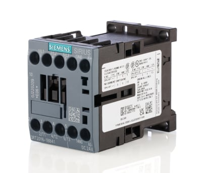 Product image for S00 Contactor 4kW 24Vdc NO aux screw