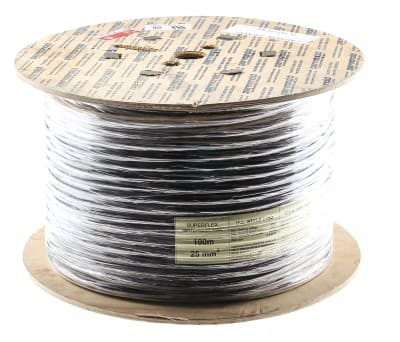 Product image for Black 25mm SuperFlexible Tri-Rated Cable