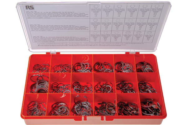 Product image for 450 PIECE STAINLESS STEEL CIRCLIP KIT