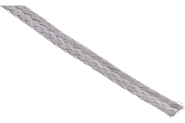 Product image for 4 X 0.8MM FLAT COPPER BRAID 30A